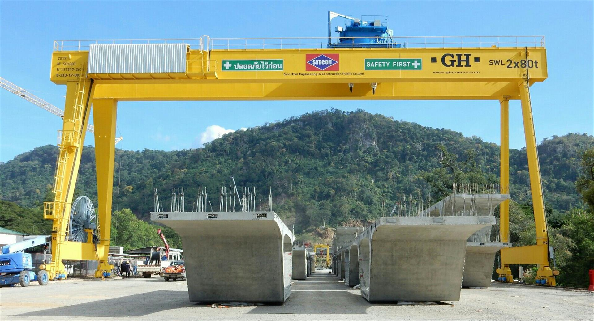 160 tn gantry crane with rotating crab: the market recognizes us. LGH, a new challenge begins in Thailand.