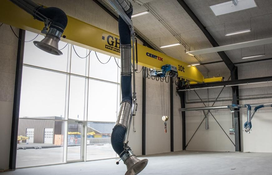 EOT Cranes for EMS ApS, CertexDk in Denmark