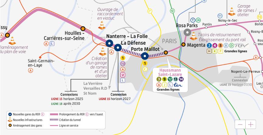 LA CARTE DU PROJET EOLE GH FRANCE PARTICIPE AU PROJET EOLE DEF – GRAND PARIS