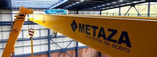 GH Cranes grua puente Metaza una firma de acero