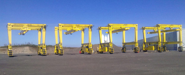 Mobile System Unit - Automotive gantry crane on tires
