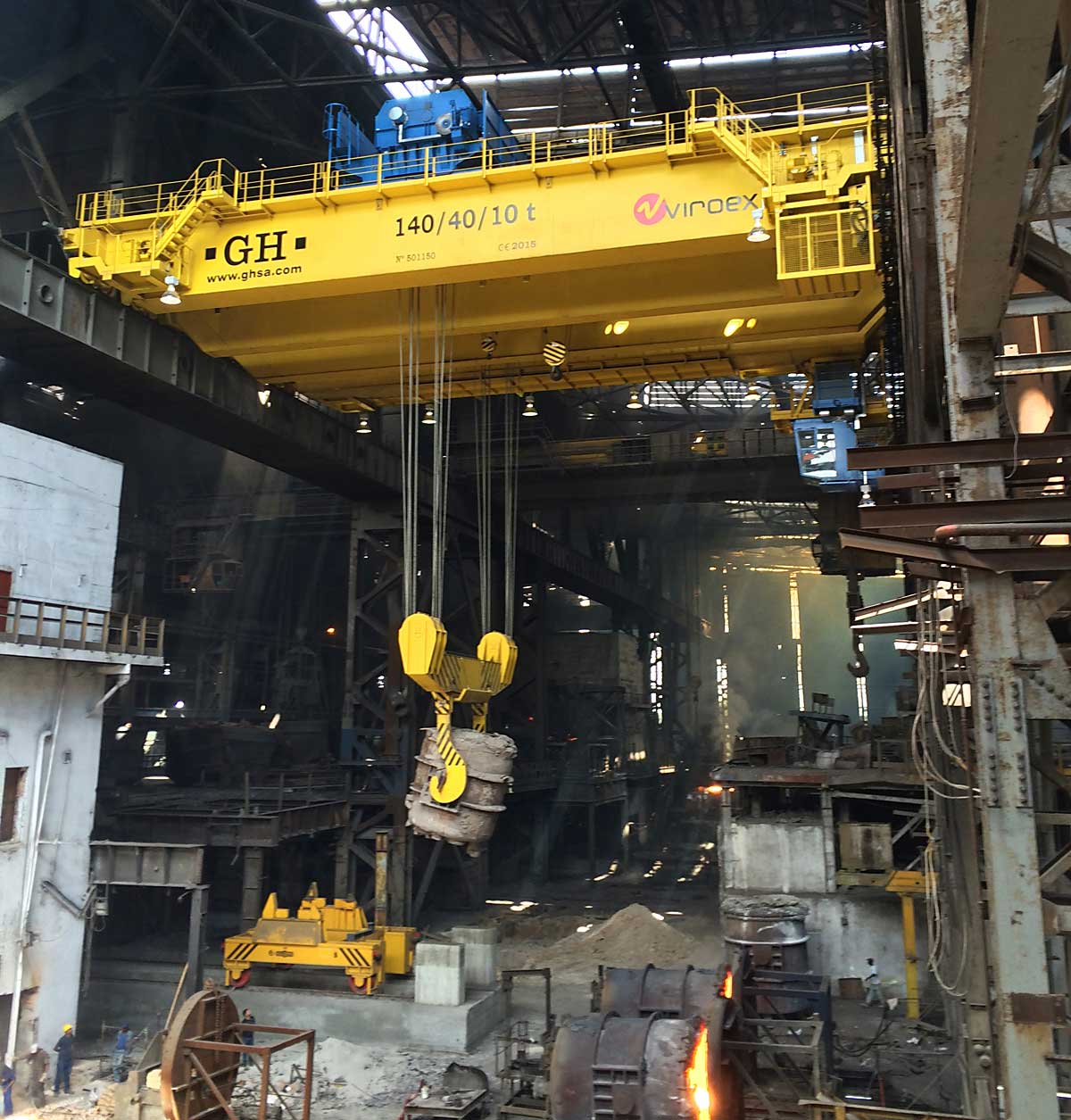 makes cranes for furnace charging and ladle handling, and casting and tundish cranes