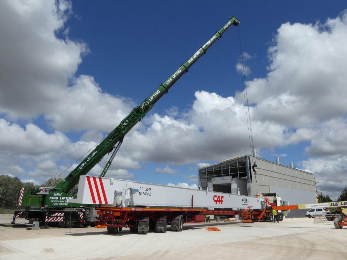 Transbordador ferroviario para las nuevas instalaciones de CAF en Newport