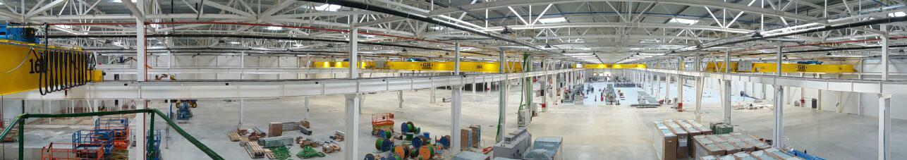 Grúas puente para la nueva sede corporativa e industrial de la multinacional Power Electronics