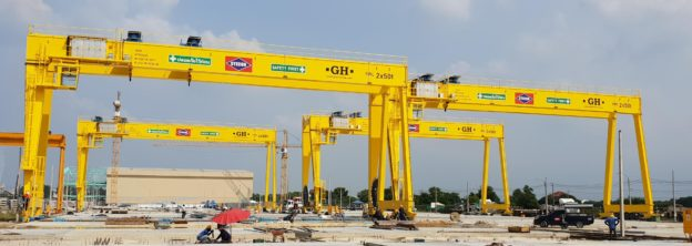 12 gantry cranes for a project of tunnels and viaducts in Thailand