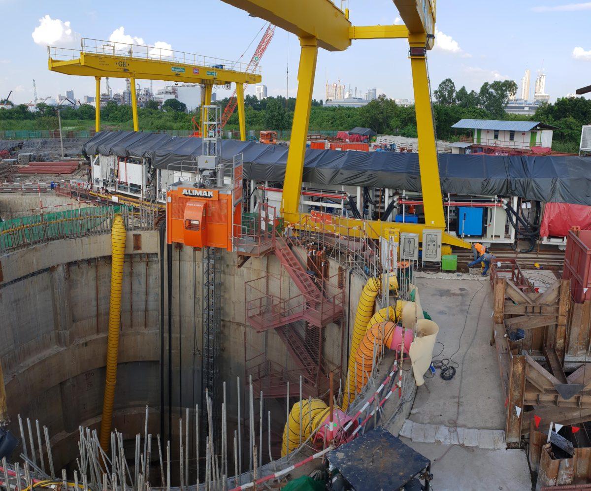 12 Grúas pórtico para proyecto de túneles en Bangkok