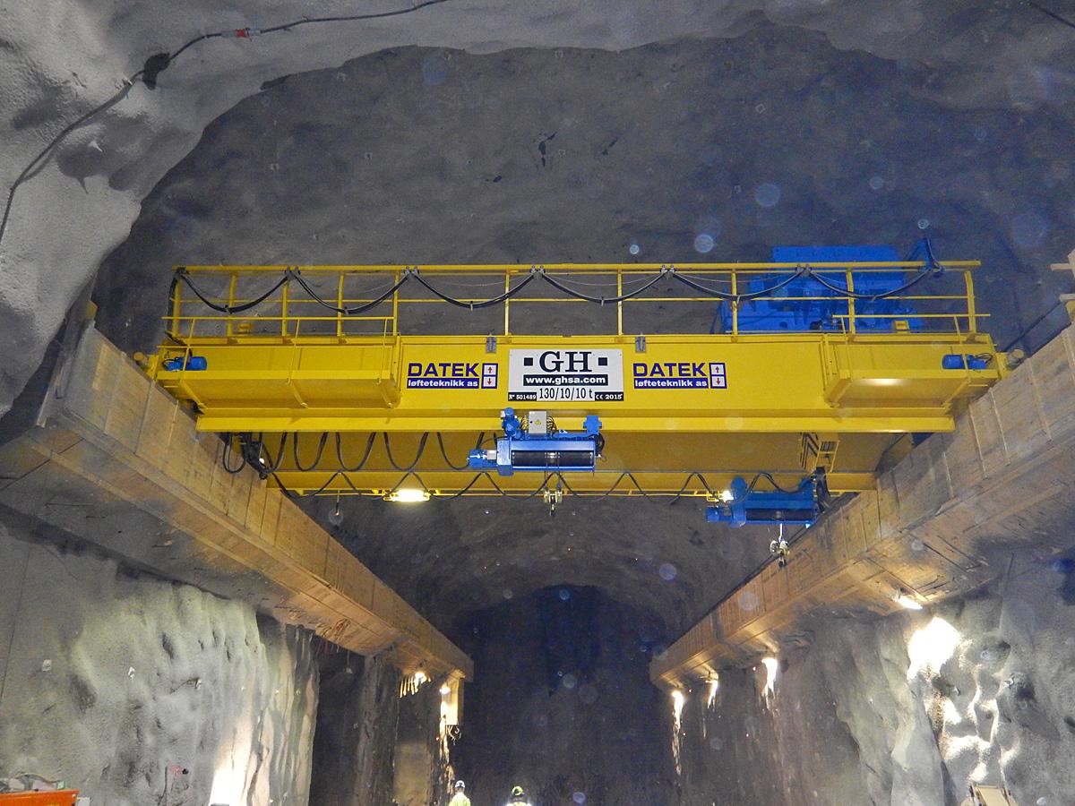 Krana er kjøpt av GH-Cranes i Spania, gjennom norske Datek Løfteteknikk AS som agent