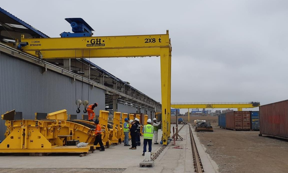 GH Cranes planta de dovelas de la línea 2 y ramal 4 del metro de Lima y Callao