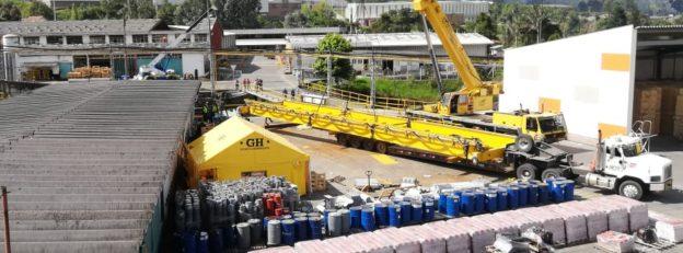 Grua puente con carro abierto para ETEX