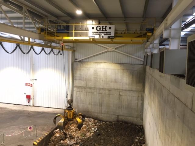 Puente grúa GH Cranes en planta de biometanización de Zubieta