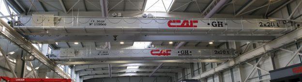 gruas puente en instalaciones de CAF