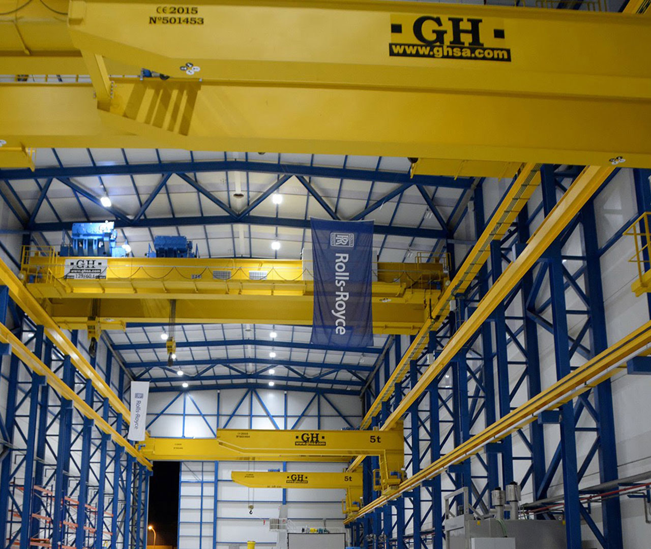 double overhead cranes and cantilever cranes