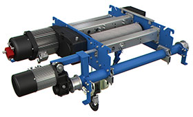 Compact double girder electric hoists