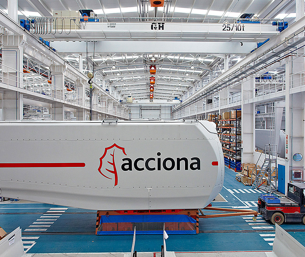 double overhead cranes white acciona