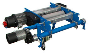 Compact double girder hoists