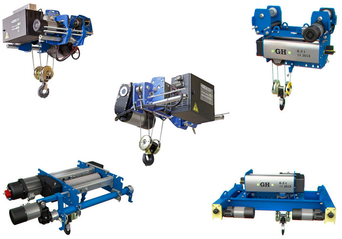 Range of GH hoists in 3D