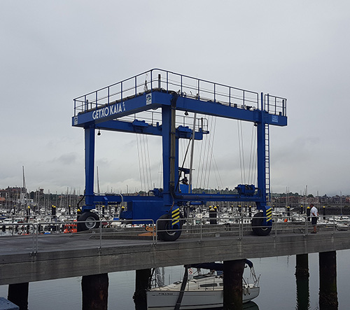 Automotive marine gantries