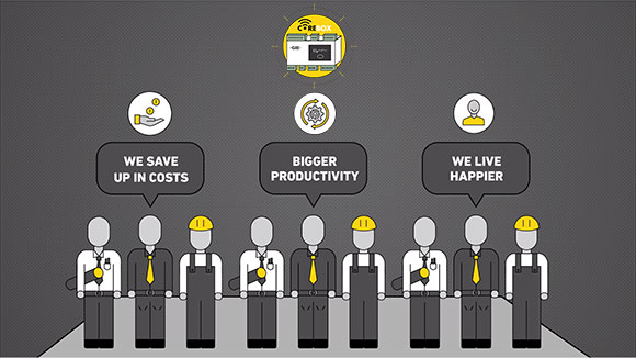 We save up in costs | Bigger productivity | We live happier