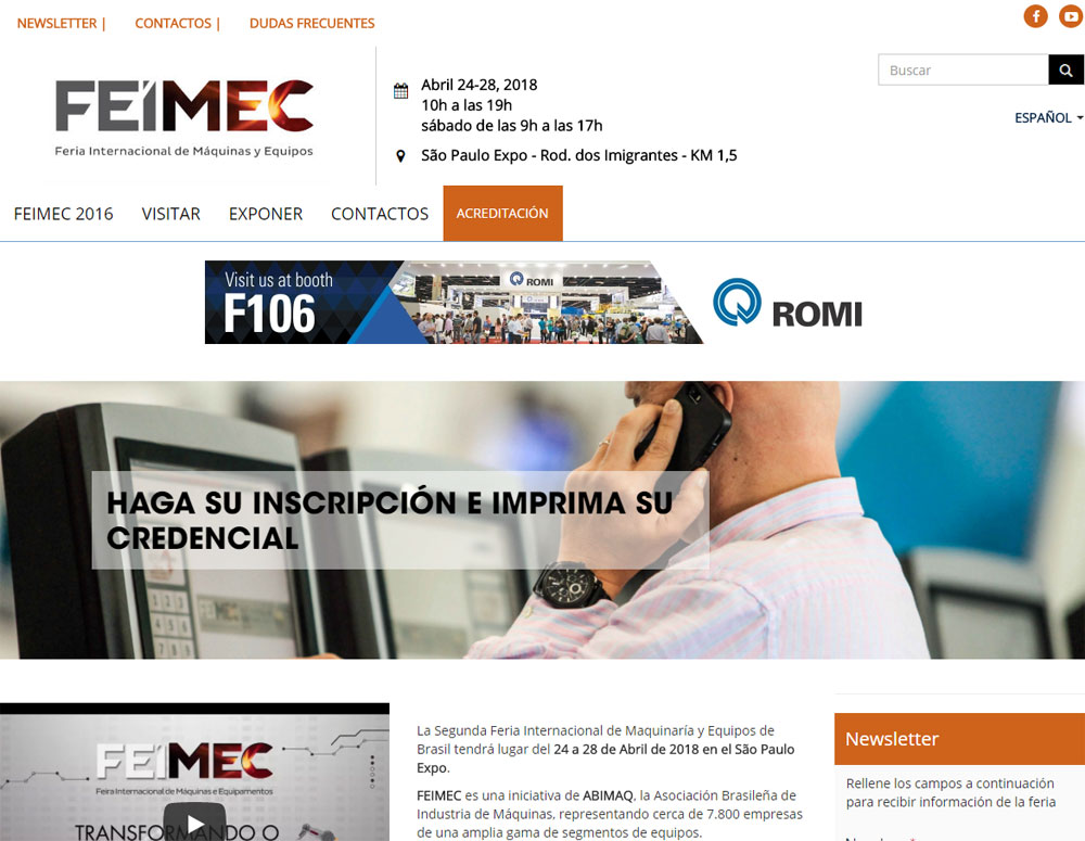 GH Will participate at Feimec 2018 fair