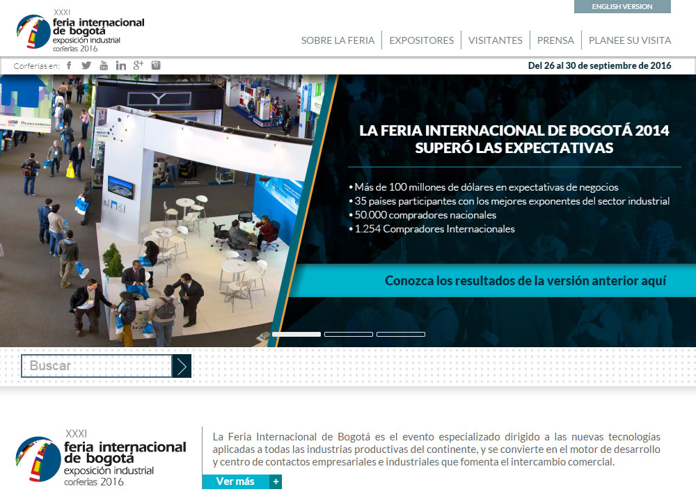 GH CRANES & COMPONENTS is going to participate in The International Industrial Trade Fair or Bogota