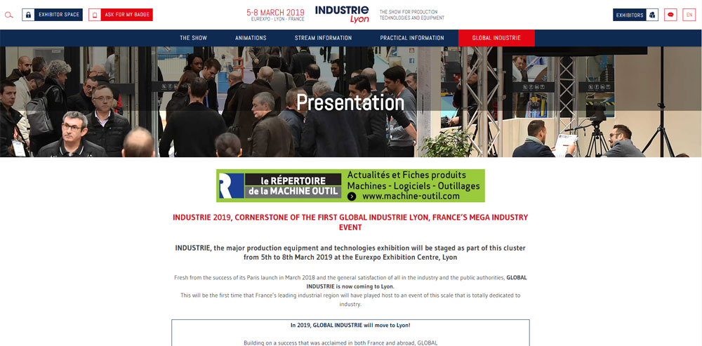 GH CRANES & COMPONENTS at the Industrie Lyon 2019 fair