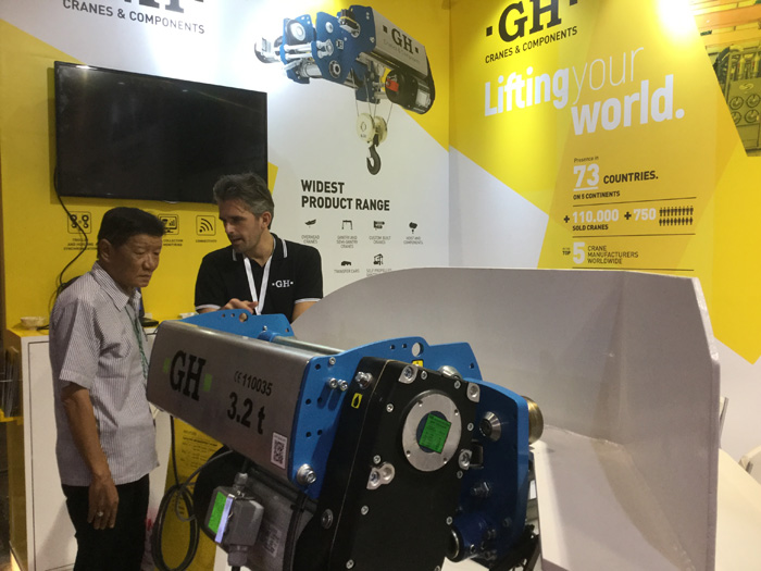 GH Cranes & Components in the exhibition Manufacturing Indonesia 2017