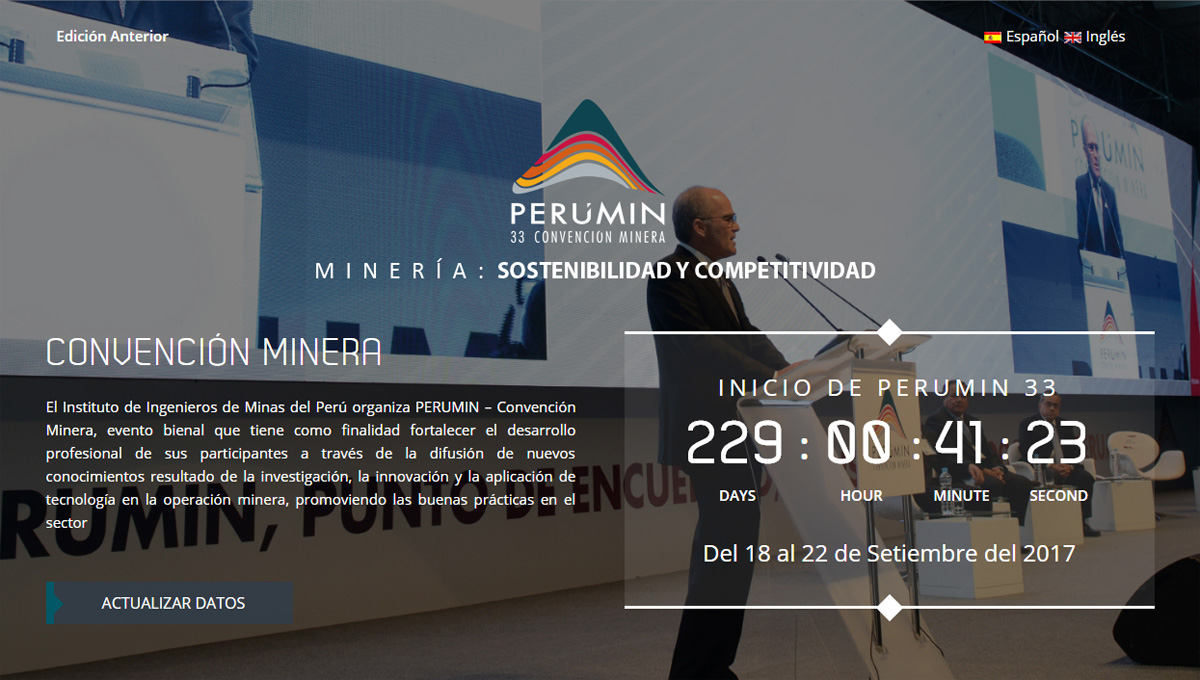 GH will attend PERUMIN - 33 Mining Convention to be held from September 18 to 22, 2017