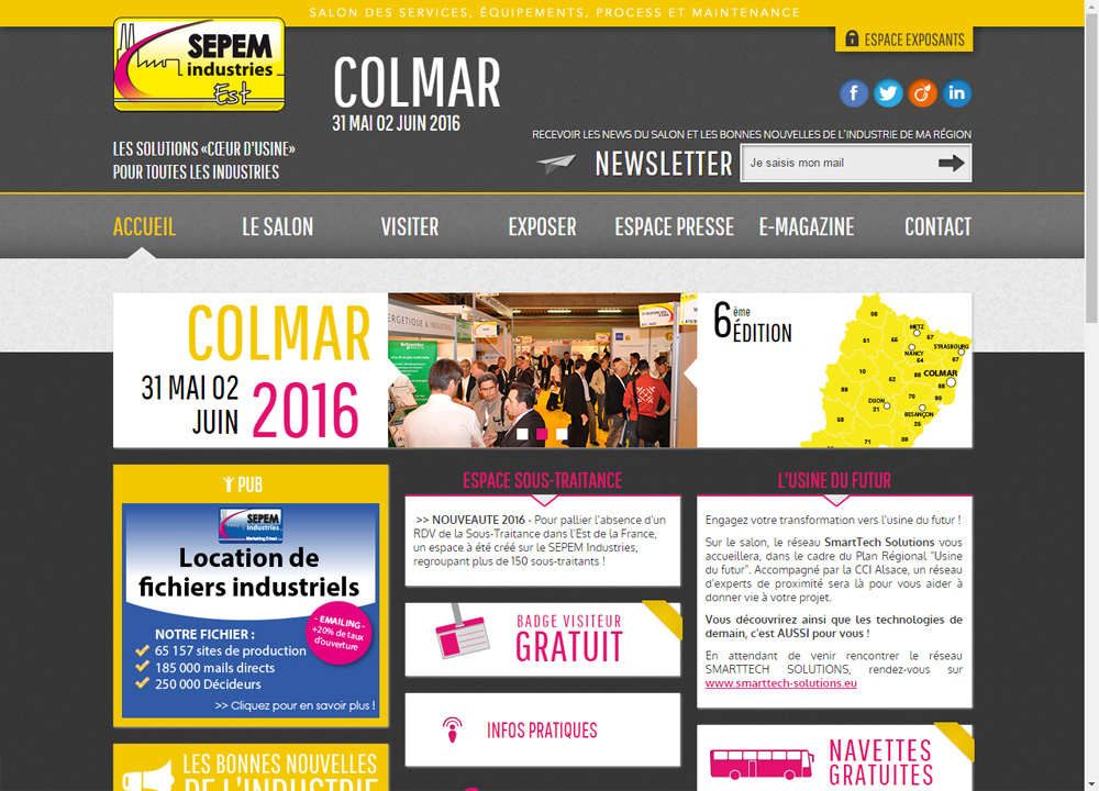 GH will be present at the exhibition Sepem Industries of Colmar