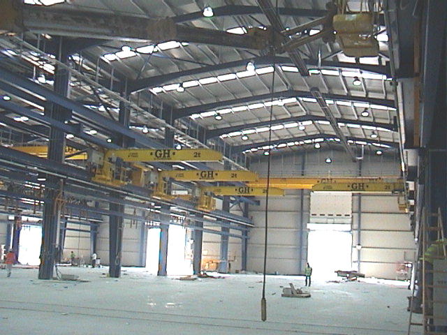 <br>Some wall jib cranes with 2t lifting capacity hoists for Comansa customer.