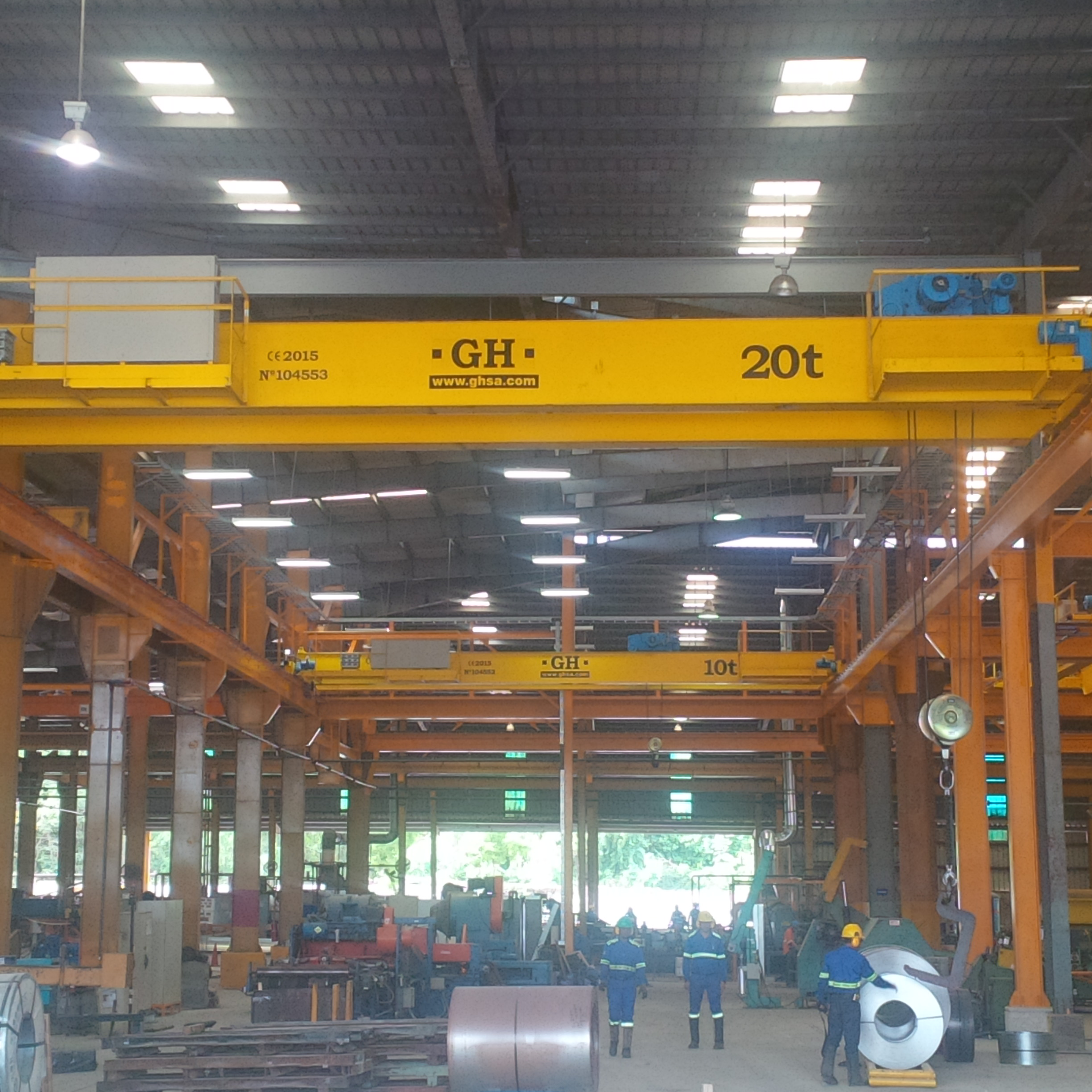 Cranes assembled in the steelwork GERDAU METALDOM in Dominican Republic.