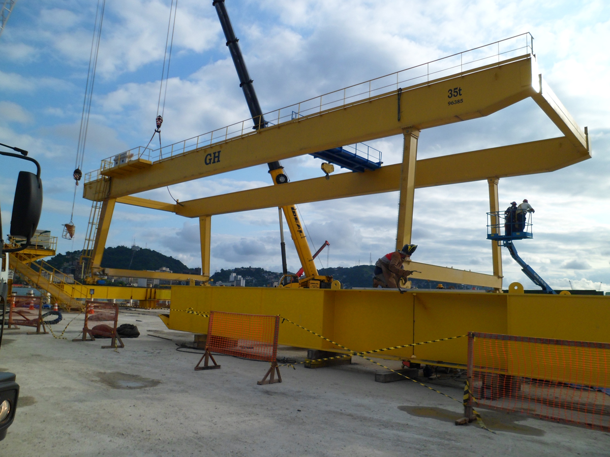 Goliath crane with a hoists of 35t lifting capacity for client Odebrecht in Brasil