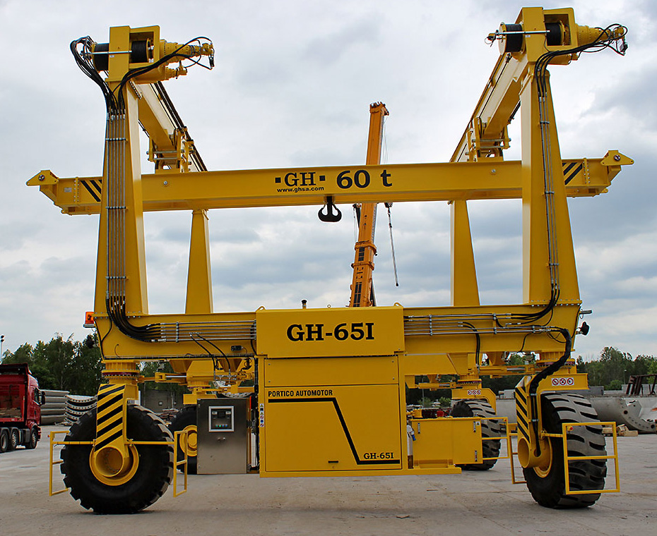 Jib Crane Manufacturers Usa : Automotive gantry crane on tires gh and hoist