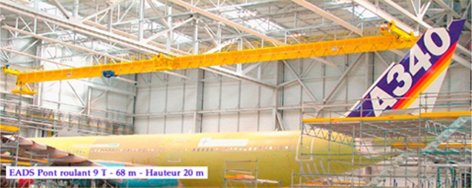 <br>Installation of GH CRANES &amp; COMPONENTS portal cranes in Aerospace industry.
