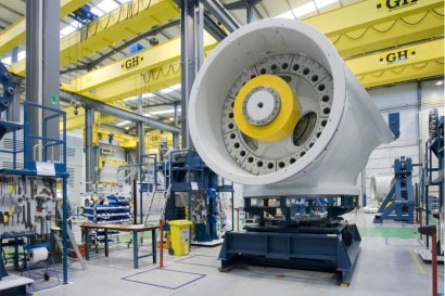 <br>GH CRANES & COMPONENTS provides EOT cranes for Alstom in the Finnish wind energy market.