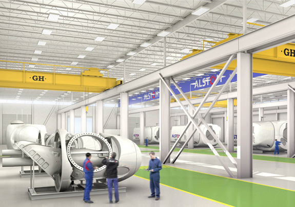 <br>GH CRANES & COMPONENTS provides EOT cranes for Alstom in Texas.