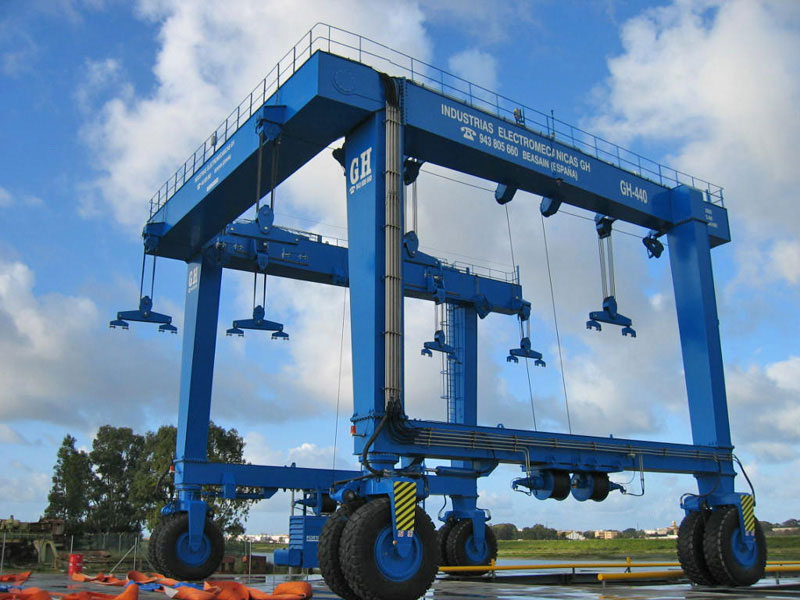 <br>Marine Hoists of GH CRANES &amp; COMPONENTS used in shipyards for construction and maintenance of ships.