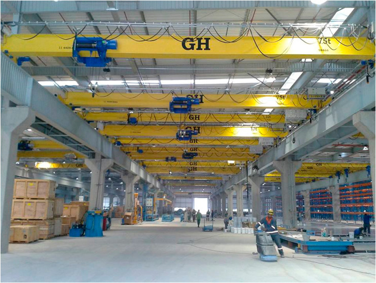<br>Installation of multiple cranes. GH Cranes and Components in the automotive sector. Hyundai - Brasil.