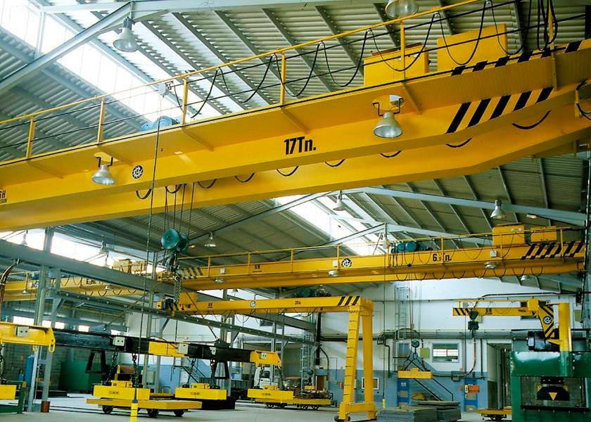 Installation of multiple cranes, Jib and semi-gantry GH Cranes and Components in the Steel constructions.