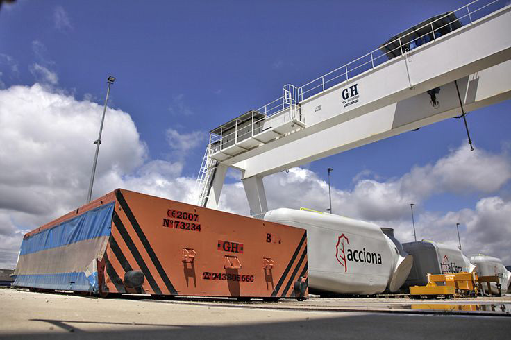<br>Instalation of transfer cart on rails, GH cranes and Components in Acciona. Wind power sector.
