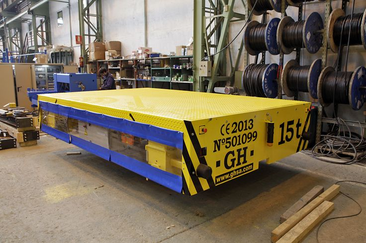 <br>15 ton transfer cart, electricity powered, GH cranes and Components.