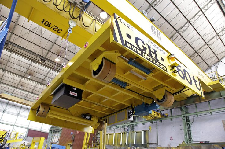 <br>60 tons of automotive transfer cart powered by battery, GH cranes and Components. Lower detail.