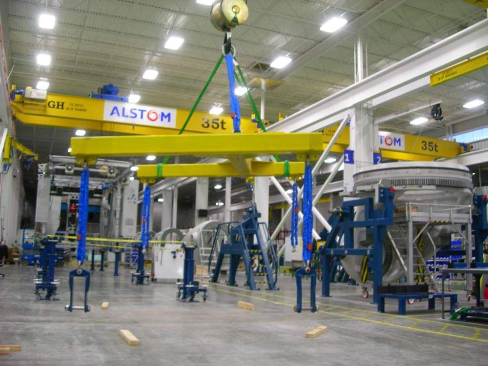<br>Bridge crane with hoist of 35t lifting capacity for client Alstom.