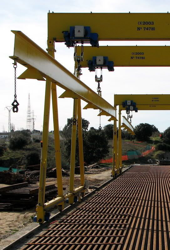 Installation of gantry cranes for ADIF.