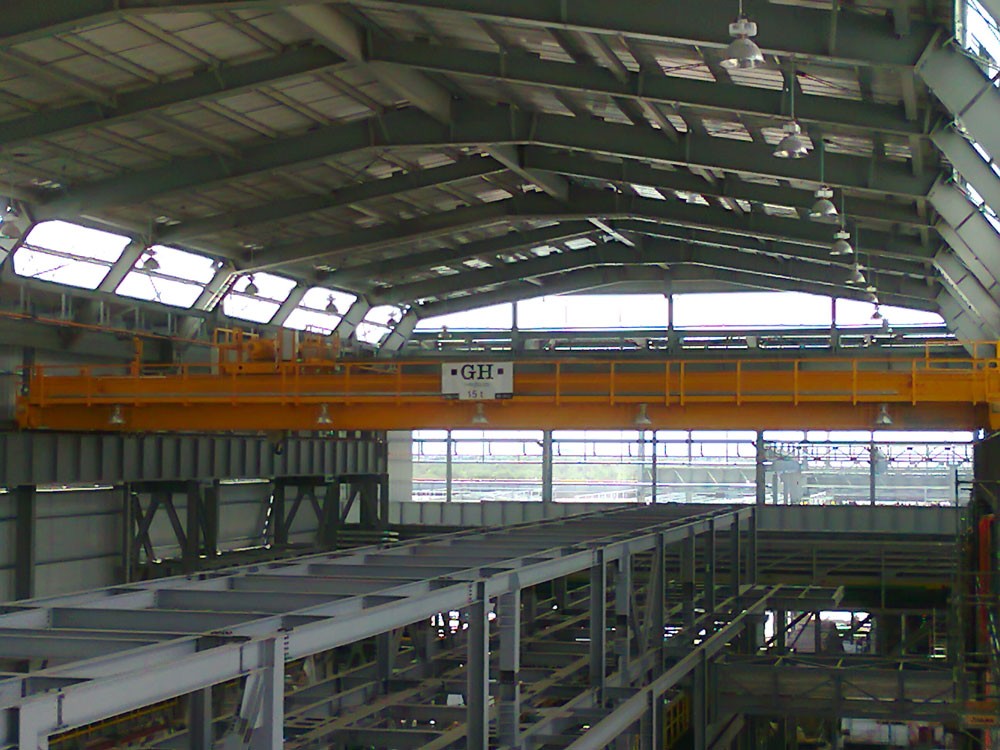 <br>EOT crane with a 15t hoist for Ternium in Mexico.