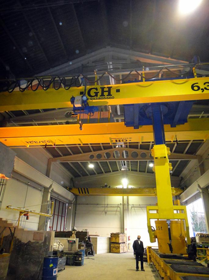 <br>EOT crane with two hoists (6.3t and 3.2t) in Vitoria.