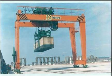 <br>Installation of GH Cranes & Components gantry crane for the application of containers manipulation.