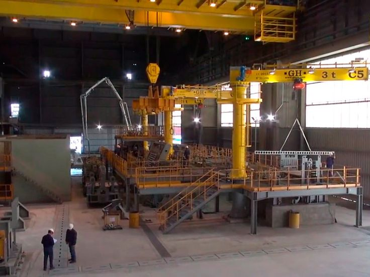 <br>Steel mill facility equipped with cranes from GH CRANES &amp; COMPONENTS. Among others, the supply includes a 75/20 t EOT crane, 7 jib cranes and a 2×80 t semi-gantry. Installation made by Ingytec, our distributor in Argentina. (www.ingytec.com).