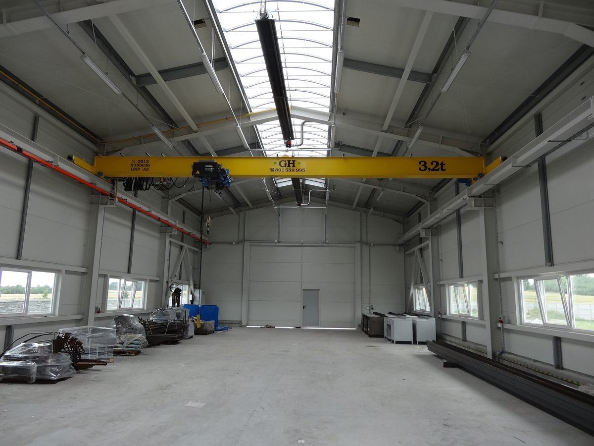 <br>Bridge crane hoist of 3.2t lifting capacity for customer Konsmet in Poland