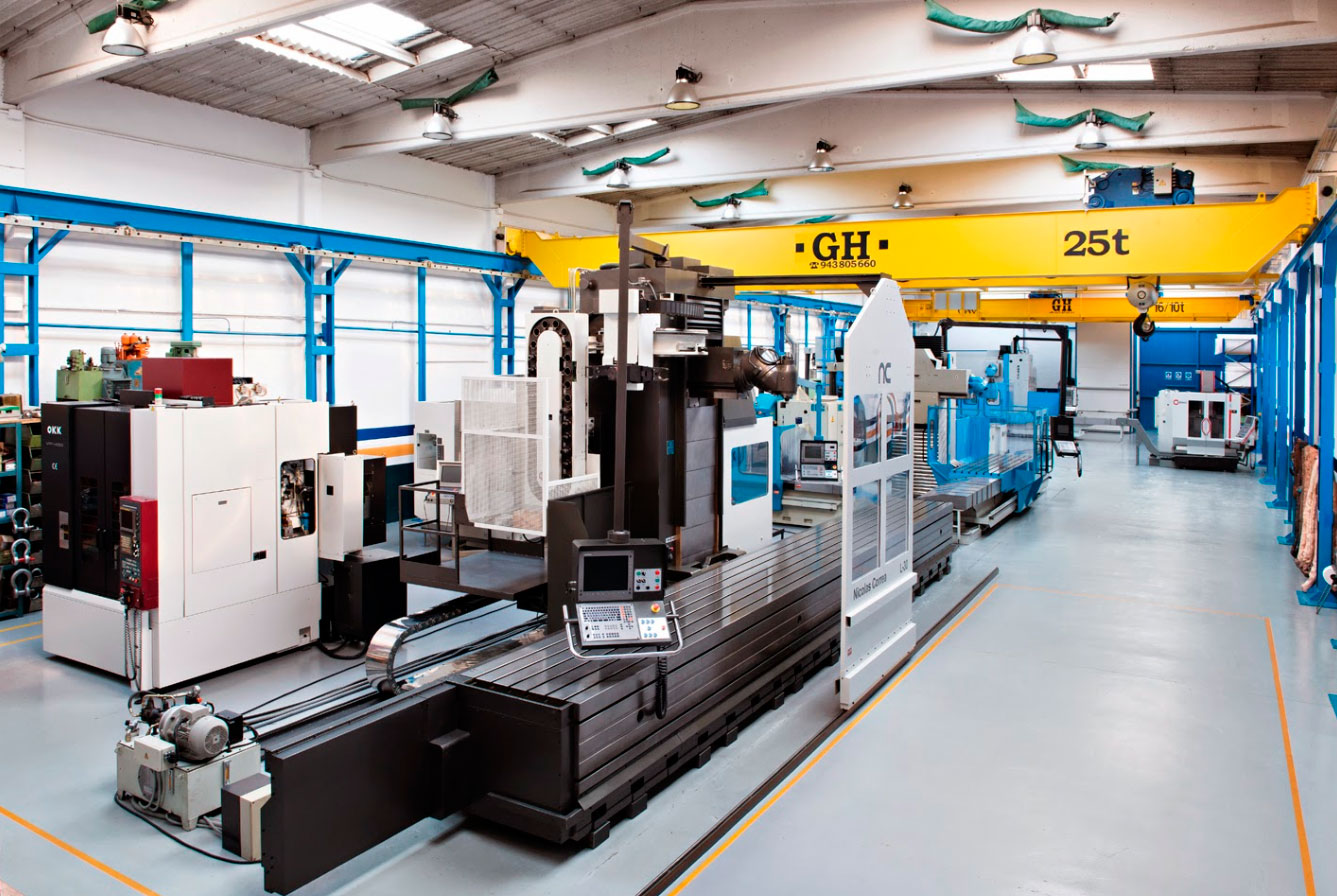 <br>Maquinaria Colas is a company that buys and sells industrial machinery (CNC milling machines, CNC lathes, machining centres, boring machines, grinding machines), as much new as second-handed.It has several EOT cranes of different capacities distributed among more than 5,000 square metres.