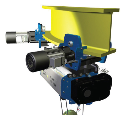 <br>Single girder slewing hoist.